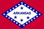 Free 150x100 JPG State Flag for State of Arkansas