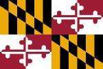 Free 150x100 JPG State Flag for State of Maryland